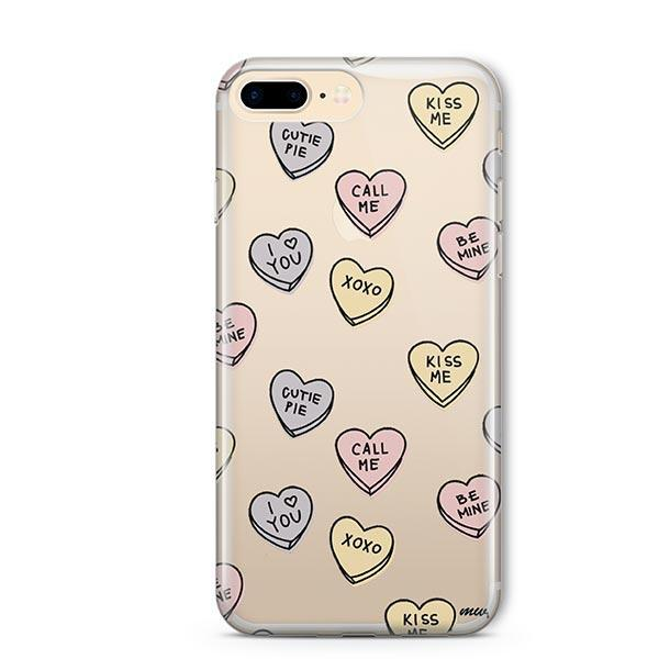 Candy Hearts iPhone 7 Plus Case Clear