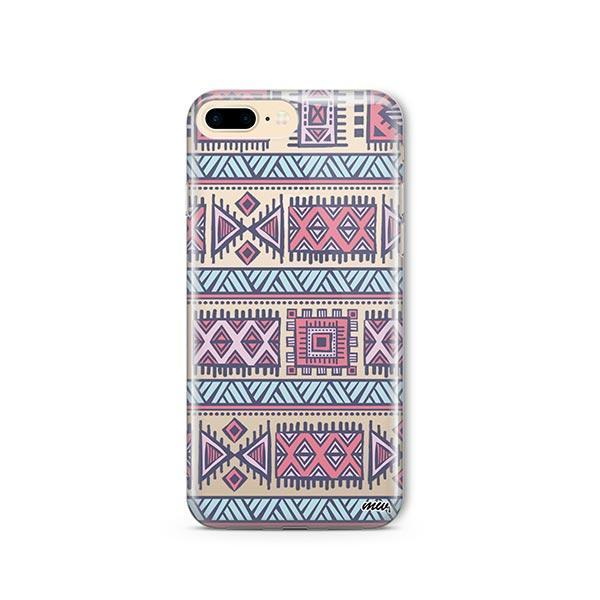 Colored Aztec iPhone 8 Plus Case Clear