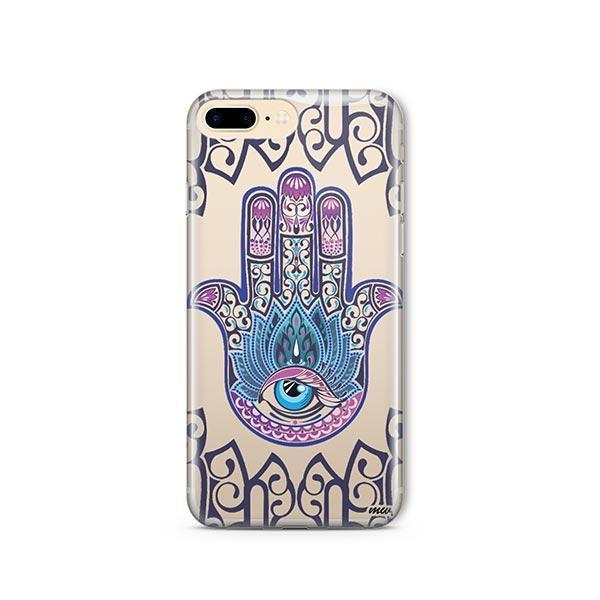 Colored Hamsa iPhone 8 Plus Case Clear