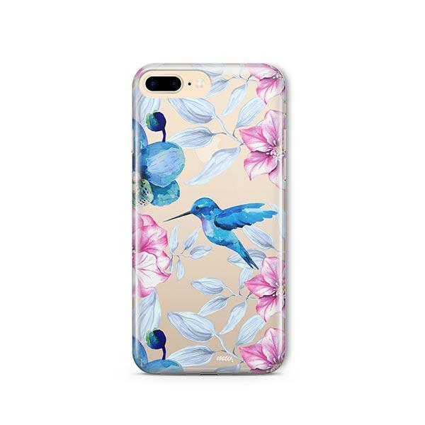 Colored Vintage Hummingbird - iPhone 7 Plus Case Clear