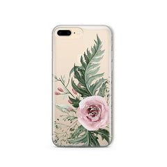 Dusty Pink Rose iPhone 8 Plus Case Clear