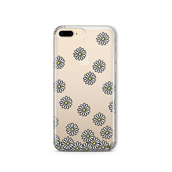 Falling Daisies iPhone 8 Plus Case Clear