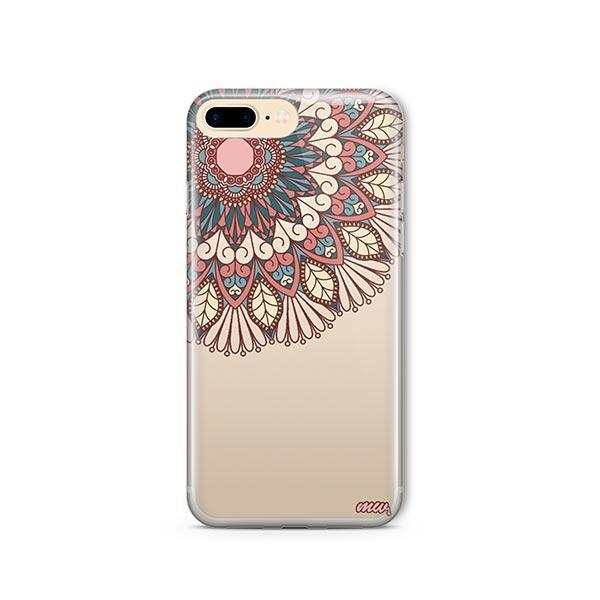 Henna Floral Mandala iPhone 7 Plus Case Clear