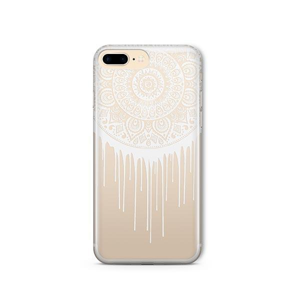 Henna Dripping Mandala Dreamcatcher iPhone 8 Plus Case Clear