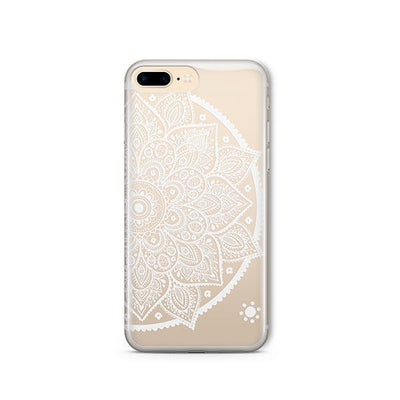 Henna Lotus Mandala - iPhone Clear Case