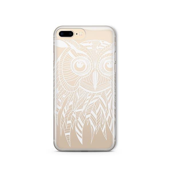 Henna Ethnic Owl iPhone 8 Plus Case Clear