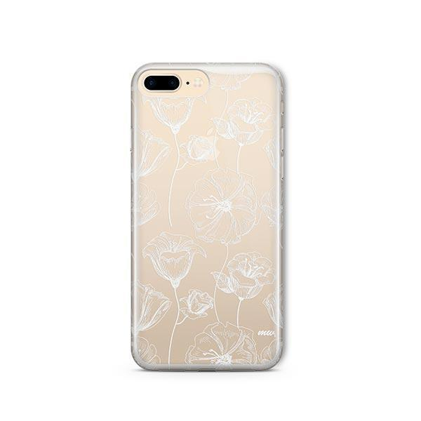 Tulip Garden iPhone 7 Plus Case Clear