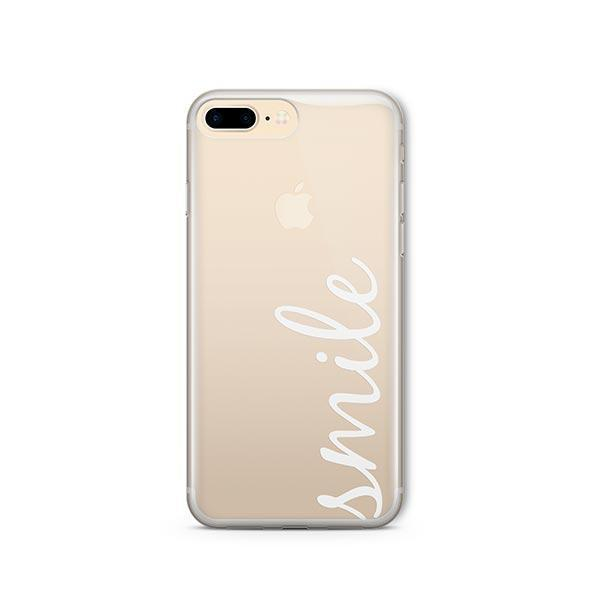 Smile Quote iPhone 8 Plus Case Clear