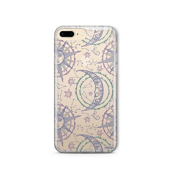 Henna Crescent Sun and Moon iPhone 8 Plus Case Clear