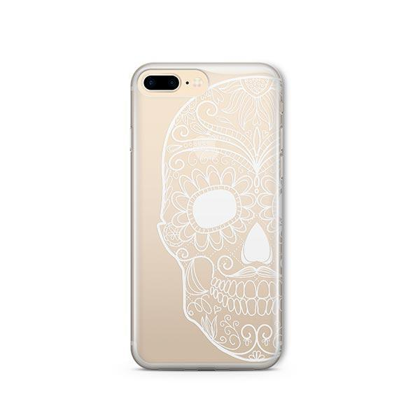 Henna Floral Skull iPhone 8 Plus Case Clear