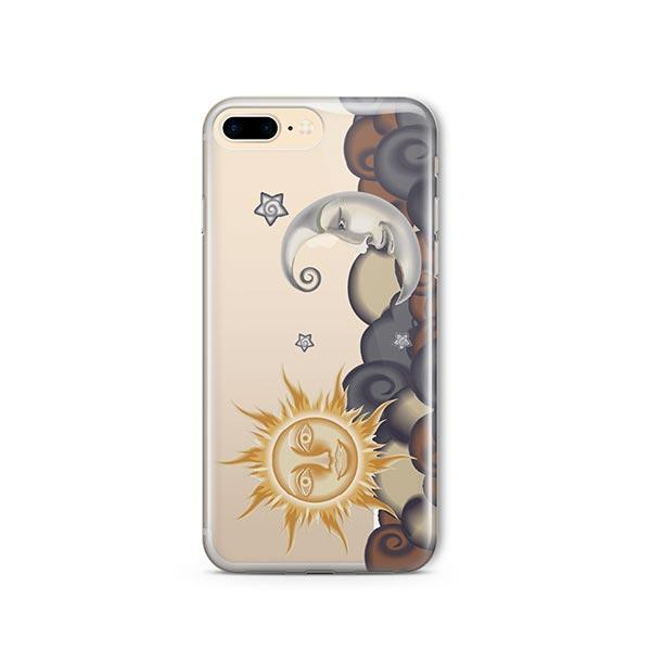 Henna Sun and Moon iPhone 7 Plus Case Clear