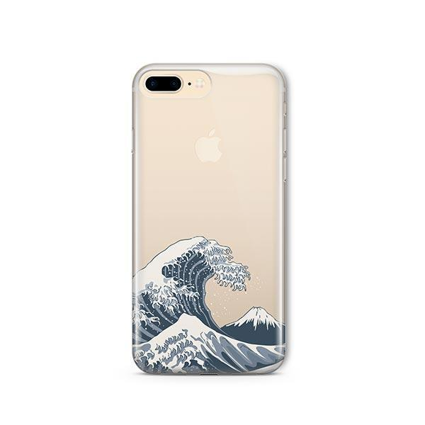 Japanese Wave iPhone 7 Plus Case Clear