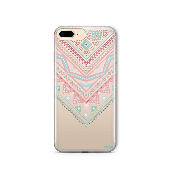 Pastel Aztec Triangle iPhone 8 Plus Case Clear