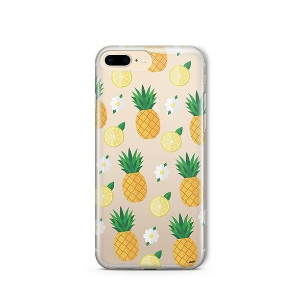 free shipping 6389b 7f3d8 Pineapple Lemon Summer iPhone 7 Plus Case Clear