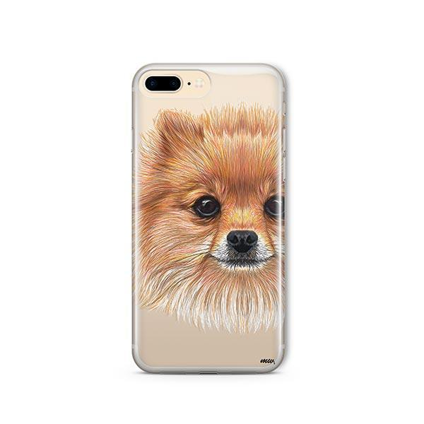 Pomsky Puppy - iPhone 8 Plus Clear Case