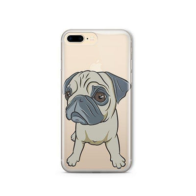 Full Pug - iPhone Clear Case