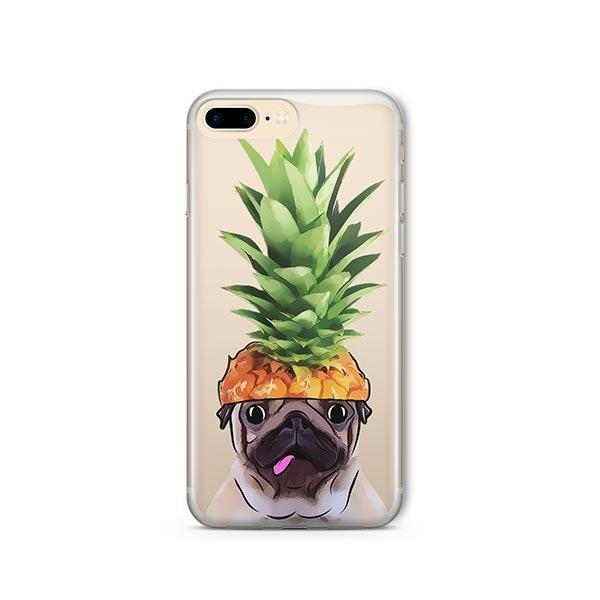 Pineapple Pug - iPhone 8 Plus Clear Case