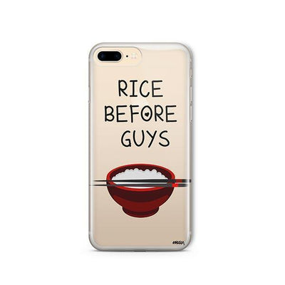 Rice Before Guys - iPhone Clear Case