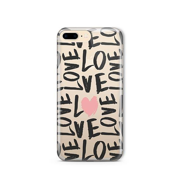 Spread The Love iPhone 8 Plus Case Clear