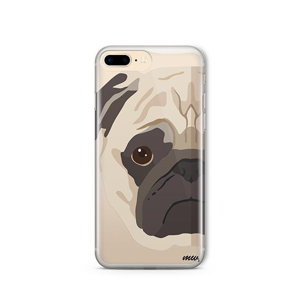 The Pug Case - iPhone 8 Plus Clear Case