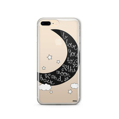 To The Moon And Back - Clear TPU - iPhone Case