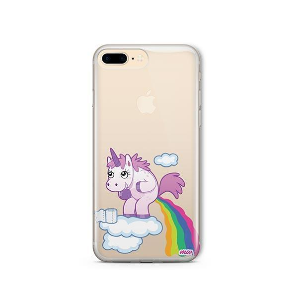Pooping Unicorn iPhone 7 Plus Case Clear