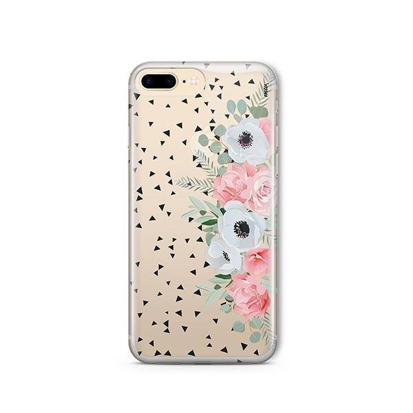 Anemone Rose iPhone 8 Plus Case Clear