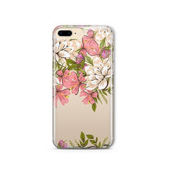 Angela Floral iPhone 8 Plus Case Clear