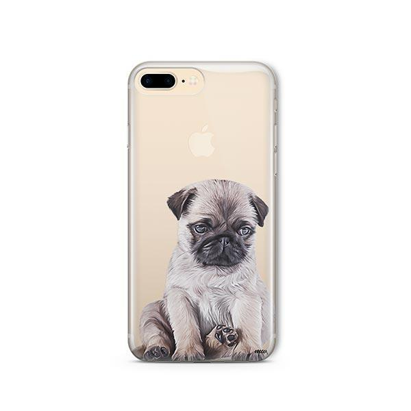 Baby Pug - iPhone 8 Plus Clear Case