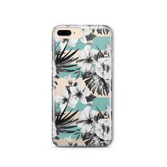 Black and White Floral iPhone 8 Plus Case Clear