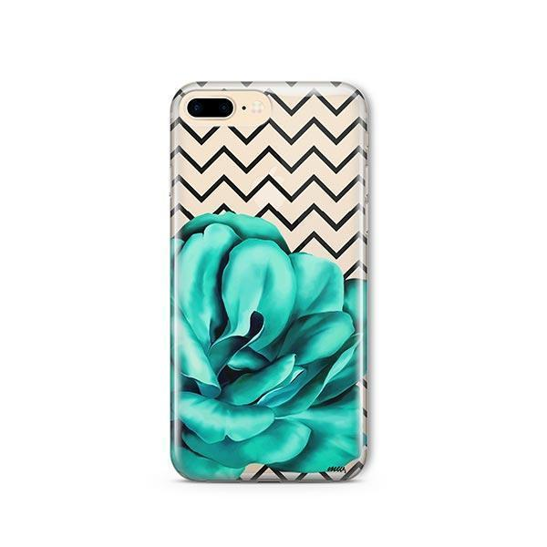 Blue Camelia iPhone 7 Plus Case Clear