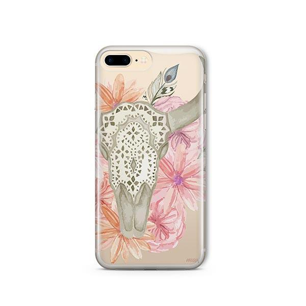 Boho Skull iPhone 8 Plus Case Clear