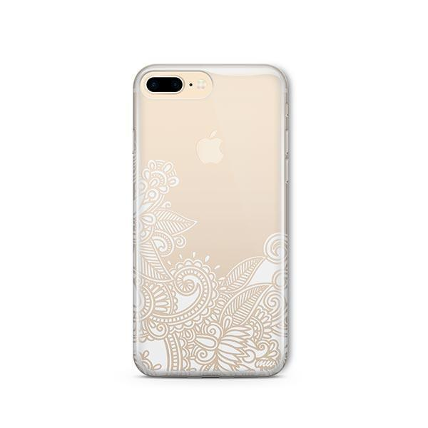 Hennan Bottom Floral Paisley iPhone 8 Plus Case Clear