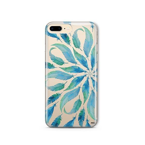 Burst of Feathers iPhone 8 Plus Case Clear