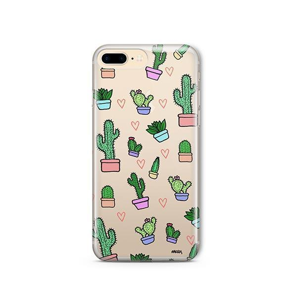 Cactus Love iPhone 8 Plus Case Clear