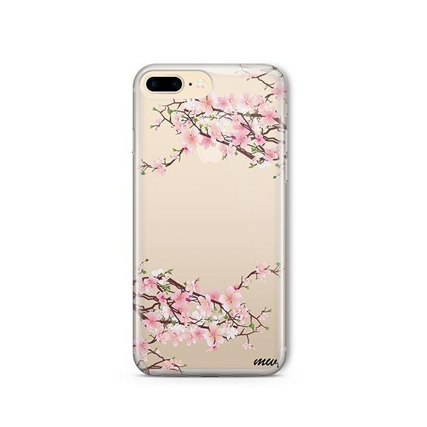 online store b22a0 f0013 Cherry Blossom iPhone 8 Plus Case Clear - Milkyway
