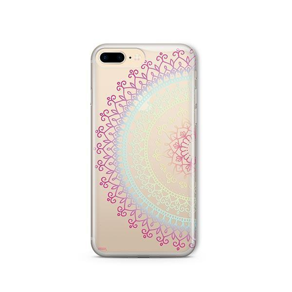 Cotton Candy Mandala iPhone 8 Plus Case Clear