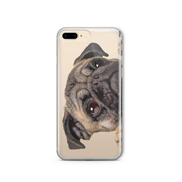 check out 7e6a3 dae4d Cry Baby Pug - iPhone 8 Plus Clear Case