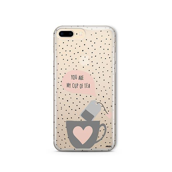Cup of Tea iPhone 8 Plus Case Clear