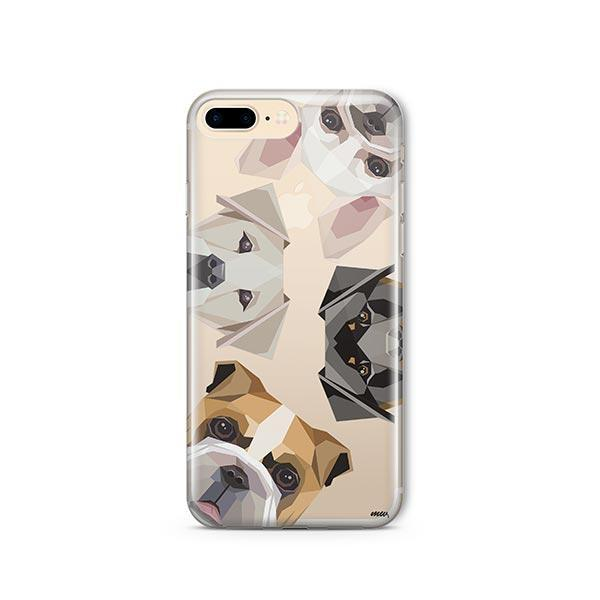Dogs with Attitude - iPhone 8 Plus Clear Case
