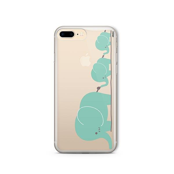 Elephant Family - iPhone 7 Plus Case Clear