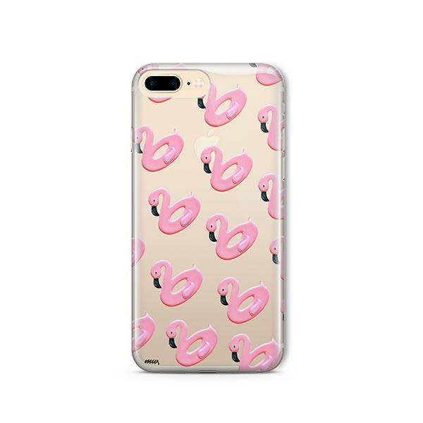 Flamingo Floaties iPhone 7 Plus Case Clear
