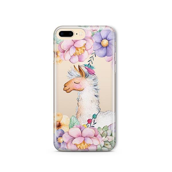 super popular 8ddb4 14b68 Floral Llama iPhone 8 Plus Case Clear