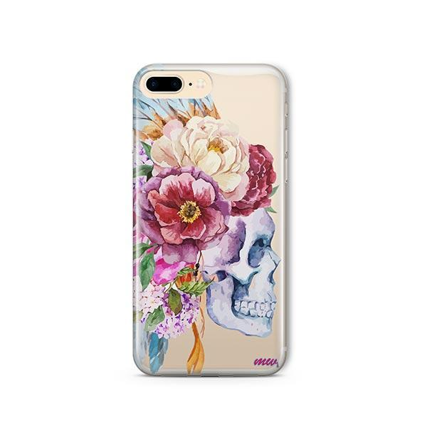 Craneo De La Flor iPhone 8 Plus Case Clear