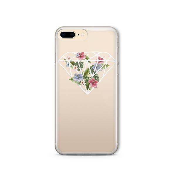 Floral Diamond iPhone 7 Plus Case Clear