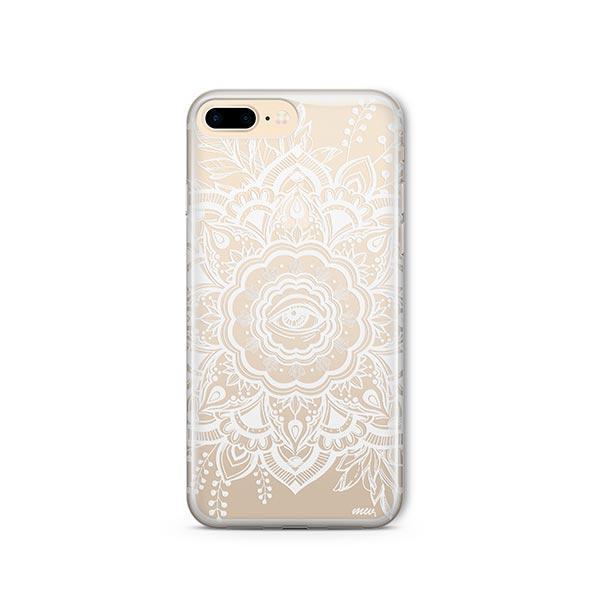 Henna Floral Eye iPhone 8 Plus Case Clear