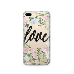 Floral Love iPhone 8 Plus Case Clear