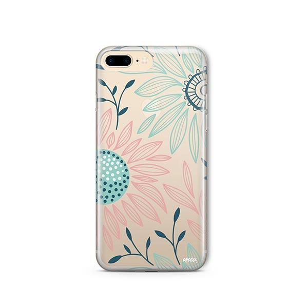 Floral Patch iPhone 7 Plus Case Clear