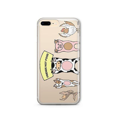 Friends Not Food - iPhone Clear Case