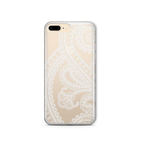 Henna Full Paisley iPhone 8 Plus Case Clear
